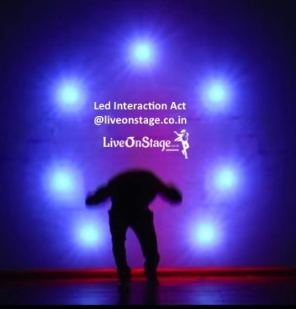 Led Interaction Act, Led Act, Led Interaction Story Act, Innovative Act, Stage Show, Stage Performance, Live On Stage, Live On Stage Entertainment, Uv Led Show