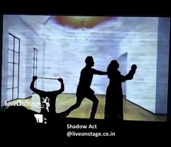 Shadow Act, Shadow Projection Act, Shadow Projection Theme Act, Live On Stage, Live On Stage Entertainment, Interactive Act, Stage Performance, Innovative Act