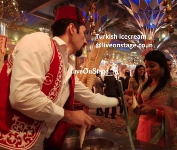 Turkish Ice Cream, Catering, Deserts, Ice Cream, Live On Stage, Live On Stage Entertainment, Dessert Entertainment,