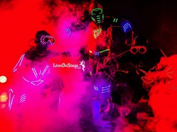 Led Shows, Led Costume Shows, Laser and Led, Live On Stage, Live On Stage Entertainment, Interactive Act, Stage Act,