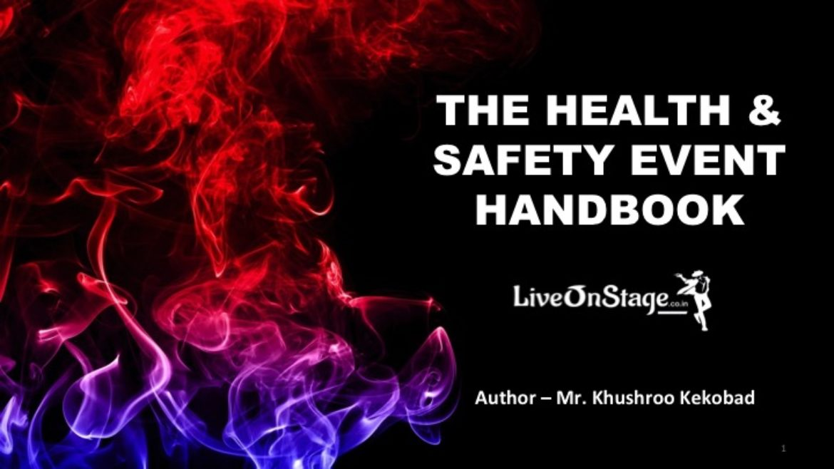 The Health & Safety Event Handbook, Fireworks & Pyrotechnics Safety Handbook, Safety in Rigging at Live Events & Theatre, Safety in Crowd Management, Security at Events, Electrical Safety at Events, Safety for Temporary Structures, Scaffolding Safety, Safety for Handling Cranes, PPE – Personal Protective Equipment, Event Insurance, Safety First, Training in First Aid, Training in Fire Fighting, Stress Management, Risk and Hazard Management at Events, Live On Stage, Live On Stage Entertainment, Author, Book, Handbook